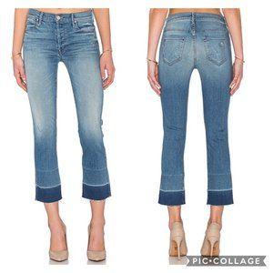 MOTHER Undone Hem Tootsie Button Fly Jeans 32